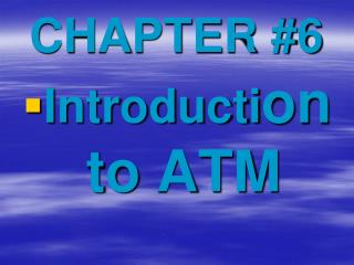CHAPTER #6