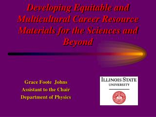 Developing Equitable and Multicultural Career Resource Materials for the Sciences and Beyond