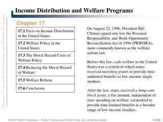 17.5  Welfare Reform