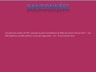 RANDONN�ES