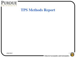 TPS Methods Report