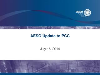 AESO Update to PCC