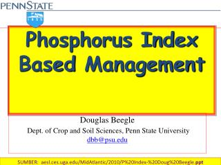 Phosphorus Index  Based  Management