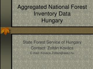 Aggregated National Forest Inventory Data Hungary