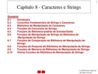 Capítulo 8 - Caracteres e Strings