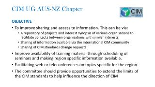 CIM UG AUS-NZ Chapter