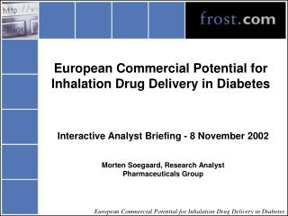European Commercial Potential for Inhalation Drug Delivery in Diabetes