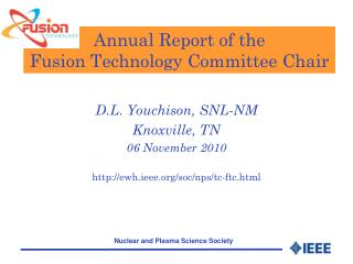 Annual Report of the  Fusion Technology Committee Chair