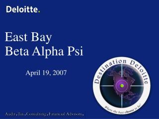 East Bay Beta Alpha Psi
