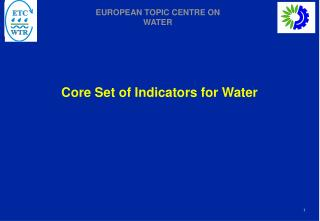 Core Set of Indicators for Water