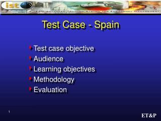 Test Case - Spain