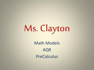 Ms. Clayton