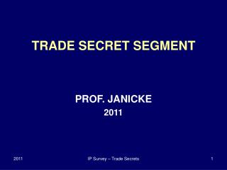 IP Survey   Trade Secrets