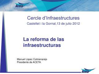 La reforma de las infraestructuras