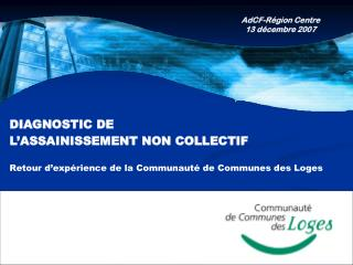 DIAGNOSTIC DE  L'ASSAINISSEMENT NON COLLECTIF