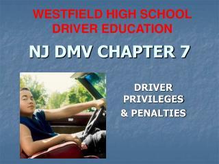 NJ DMV CHAPTER 7