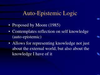 Auto-Epistemic Logic