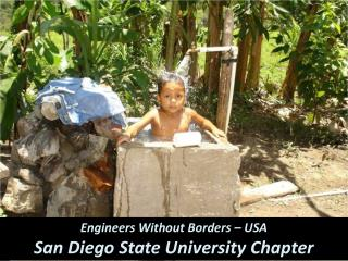 Engineers Without Borders – USA San Diego State University Chapter