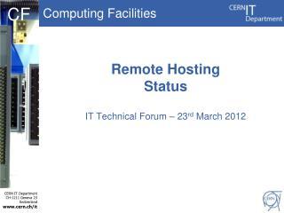 Remote Hosting Status