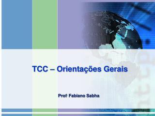 TCC – Orientações Gerais