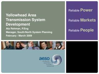 Yellowhead Area Transmission System Development