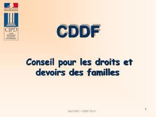 Conseil pour les droits et devoirs des familles