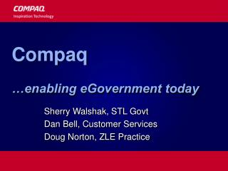 Compaq …enabling eGovernment today