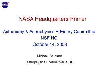 NASA Headquarters Primer
