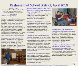 Kashunamiut School District, April 2010