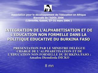 Association pour le développement de l'éducation en Afrique Biennale de l'ADEA 2006