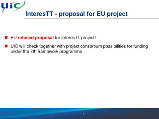 InteresTT - proposal for EU project