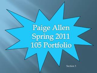 Paige Allen Spring 2011  105 Portfolio