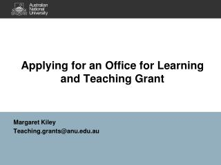 Applying for an Office for Learning and Teaching Grant