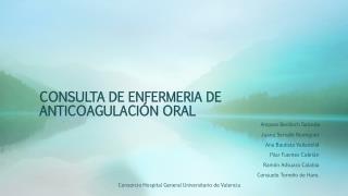 CONSULTA DE ENFERMERIA DE ANTICOAGULACIÓN ORAL