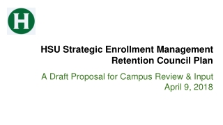 What s New in the Study of Mental Health and Student Retention