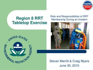 Region 8 RRT Tabletop Exercise