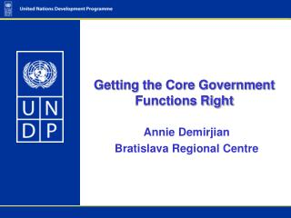 Getting the Core Government Functions Right