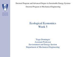 Ecological Economics Week 5