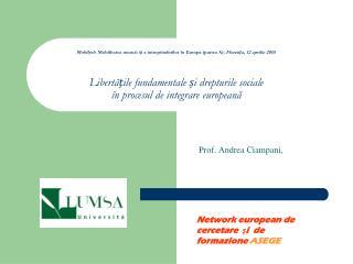 Prof. Andrea Ciampani,