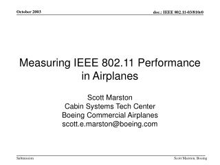 Measuring IEEE 802.11 Performance in Airplanes