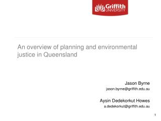 An overview of planning and environmental justice in Queensland