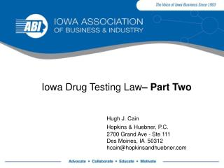 Iowa Drug Testing Law  Part Two