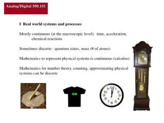 I  Real world systems and processes