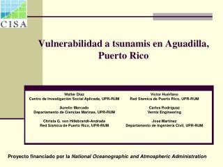 Vulnerabilidad a tsunamis en Aguadilla, Puerto Rico