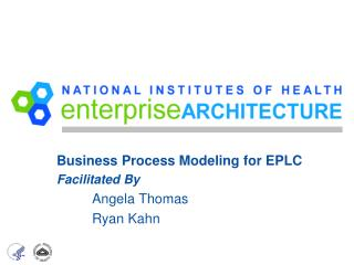 Business Process Modeling for EPLC Facilitated By Angela Thomas Ryan Kahn