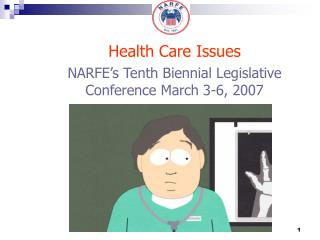 NARFE s Tenth Biennial Legislative Conference March 3-6, 2007