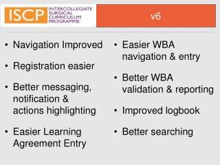 Navigation Improved Registration easier Bettermessaging, notification & actionshighlighting