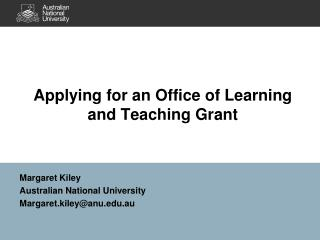 Applying for an Office of Learning and Teaching Grant