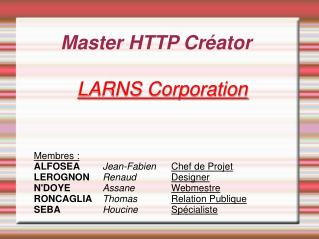 Master HTTP Créator