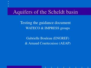 Aquifers of the Scheldt basin